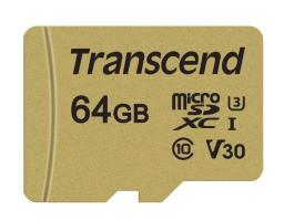Transcend TS64GUSD500S microSDXC Class 10 95MB/s 64GB (TS64GUSD500S)
