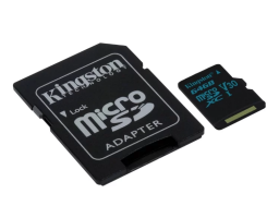 Kingston SDCG2/64GB microSDXC Class 10 90MB/s 64GB + SD adapter (SDCG2/64GB)
