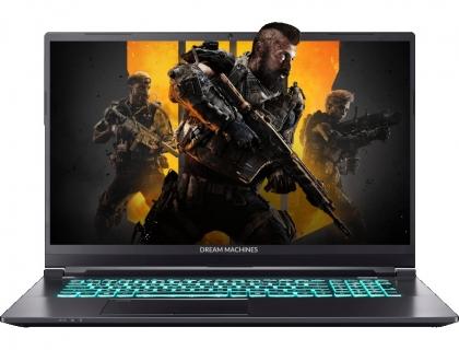 """Dream Machines S1660Ti-17RU51 Intel Core i7 10750H 2600MHz/17.3""""/1920x1080/16GB/1024GB SSD/DVD нет/NVIDIA GeForce GTX 1660 Ti 6GB/Wi-Fi/Bluetooth/Без ОС (Black)"""