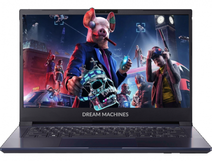 "Dream Machines G1650-14RU50 Intel Core i5 1135G7 2400MHz/14""/1920x1080/8GB/512GB SSD/DVD нет/NVIDIA GeForce GTX 1650 4GB/Wi-Fi/Bluetooth/Без ОС(Blue)"